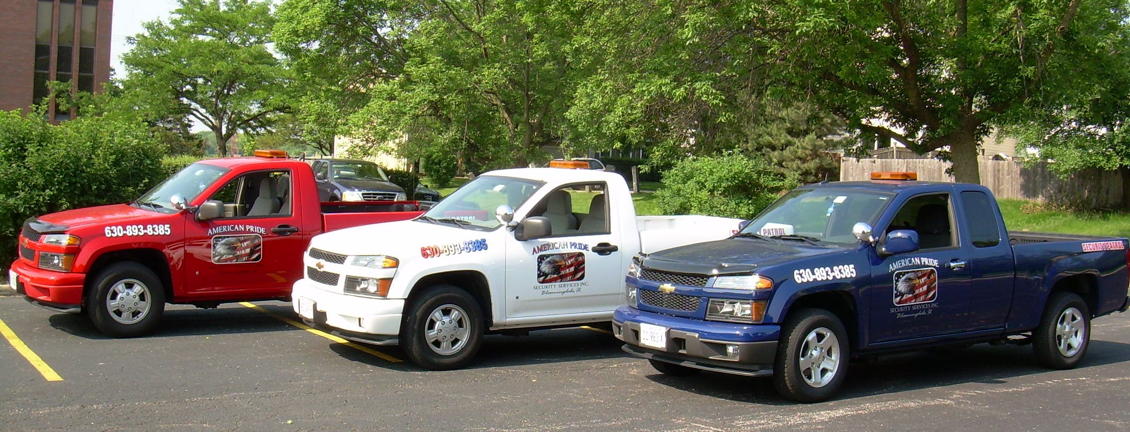 American Pride Security Services Inc. trucks